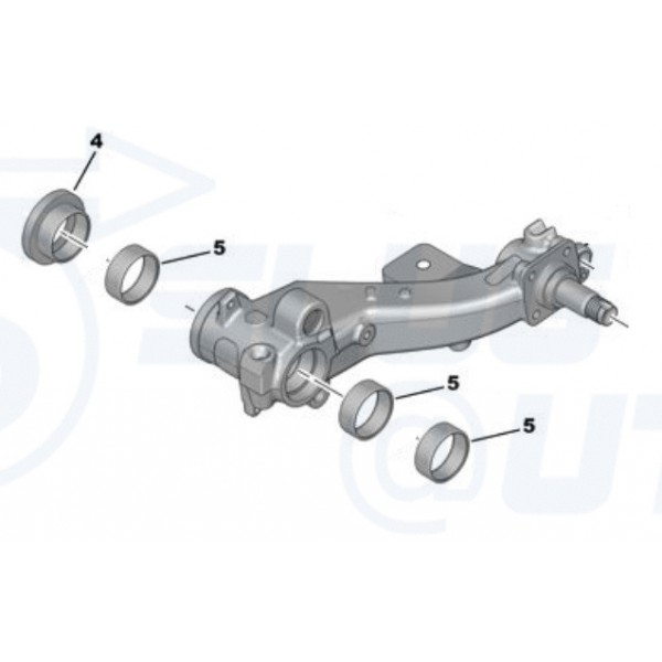 Kit de Réparation Roulement Train arrière Peugeot 206 1.9D Renforcè