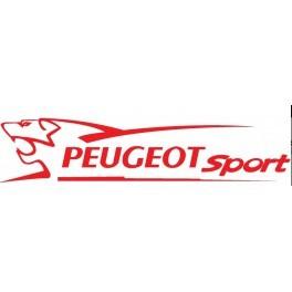 Autocollant  Peugeot sport Rouge